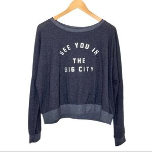 Project Social T Graphic Sweatshirt Pullover Gray